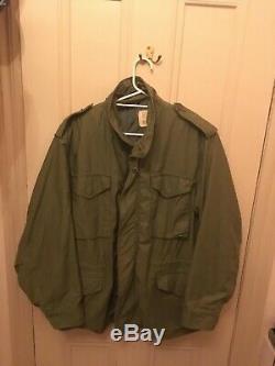 1972 ALPHA INDUSTRIES M-65 Army Field Jacket MEDIUM REGULAR Vintage Coat