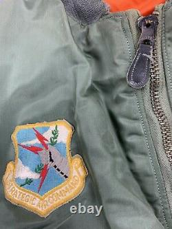 1975 SAC 8th Air Force Captain MA-1 Flight Jacket Medium Pilot Alpha Bomber