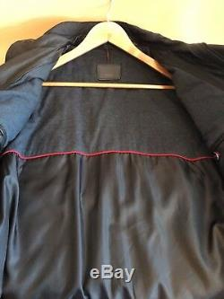 #268 TUMI ALPHA Leather and Polyester Trim Jacket Size S MSRP $ 1,195