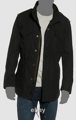 $498 Alpha Industries Mens Slim-Fit Black M-65 Defender Field Jacket Coat Size M