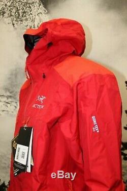 50% Off! New Men's Arc'teryx Alpha Ar Gore-tex Pro Jacket, Med, Diablo Red