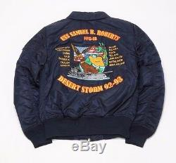 ALPHA INDUSTRIES CWU 45/P STORM CRUISE JACKET MJC47502C1-REP BLUE (msrp $250)