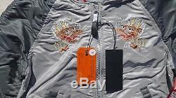 ALPHA INDUSTRIES Jacket MA1 Souvenir Double Dragon Reversible Flight Bomber Grey