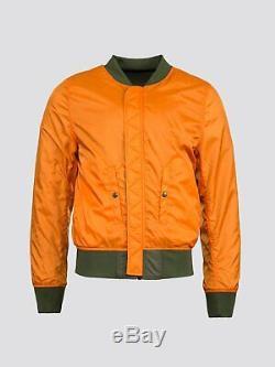 ALPHA INDUSTRIES L2B Flex Flight Bomber Jacket Reversible Sage Orange Men's Med