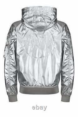 ALPHA INDUSTRIES Limited Edition NASA Metallic Hooded Jacket Silver