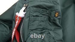 ALPHA INDUSTRIES MA1 Natus Bomber Hooded Flight Jacket Pilot Patrol Green Mens M