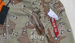 ALPHA INDUSTRIES MA-1 Flight Jacket Bomber Reversible Chocolate Chip Digi Camo