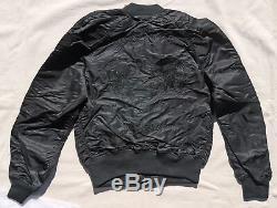 ALPHA INDUSTRIES MA-1 Jacket Souvenir Shinto Reversible Flight Bomber Black $250