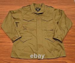 ALPHA INDUSTRIES M-43 Field Coat Jacket OD Olive Drab Green WWII Military M MINT