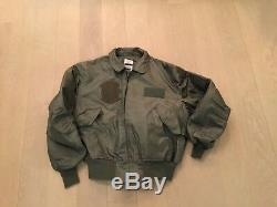 ALPHA, cwu36p flight jacket, excellent used, 100% aramid, 1987, us made, issue, medium
