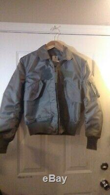 ALPHA cwu 36/p flight jacket Excellent Pre-Owned 100% aramid Medium 1988 USA