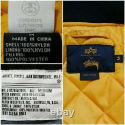 ALPHA x STUSSY 35th anniversary limited collaboration MA-1 flight jacket size M