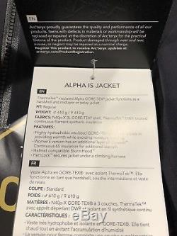 ARCTERYX ALPHA IS Mens JACKET Medium BLACK 2018 Gore Tex $899 MSRP