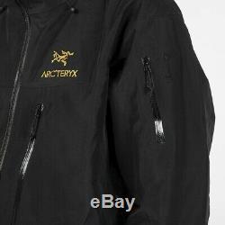 ARCTERYX ALPHA SV JACKET MEN'S BLACK GOLD 24K size MEDIUM NEW WITH TAGS