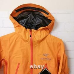 ARC'TERYX W's Alpha SL Nylon Women's Mountain Parka Jacket Size M Orange NEW