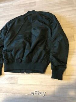 Alpha Industies Bomber Jacket Medium NEW £135 Petrol Coat Jacket Alpha Industrie