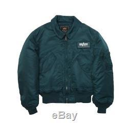 Alpha Industries CWU 45/P Flight Jacket Black, Sage, Replica Blue, Navy MJC22000C1