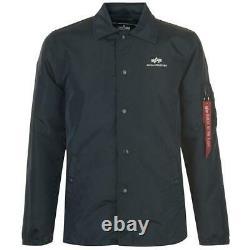 Alpha Industries Coach Jacket Coat Mens Size UK Medium Navy