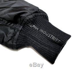 Alpha Industries Europe Injector III Bomber Jacket Slim Fit Black Wool Medium