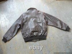 Alpha Industries G1 Leather Flight Jacket tag M