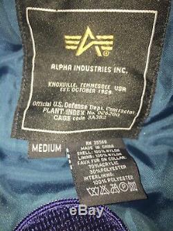 Alpha Industries Green Sage B-15 Bomber Flight Jacket sz Medium