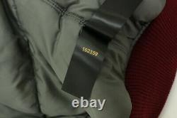 Alpha Industries Inc Women's Maroon Lined Hooded Bomber Jacket Size Medium