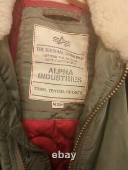 Alpha Industries Injector 111 Bomber Jacket Size Medium Dark Green