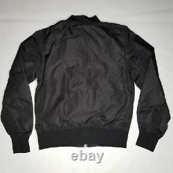 Alpha Industries L-2B Flex Flight Jacket Mens Size M Black Reversible Orange