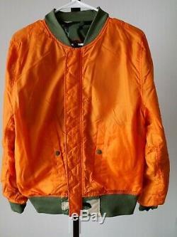 Alpha Industries L-2B Flex Light Woodland Camo Reversible Jacket Men Size Medium