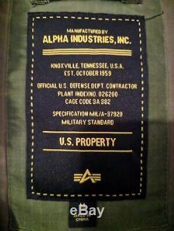 Alpha Industries M65 Parka Jacket M Medium NWT Waxed Cotton Extreme Cold