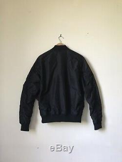 Alpha Industries MA1 TT Slim Bomber Flight Jacket Black Medium Genuine