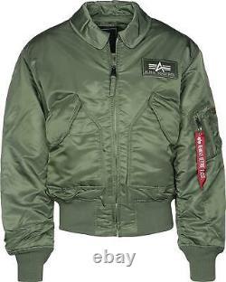 Alpha Industries MA2 CWU Flight Bomber Jacket Army Military Padded Sage Green