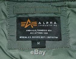 Alpha Industries MA-1 Block 60th Anniversary Jacket VintageGreen Size M RRP £165