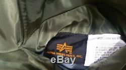 Alpha Industries MA-1 Bomber / Flight Jacket Sage Green, SZ Medium