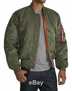 Alpha Industries MA-1 Bomber Jacket Sage Green Kanye West Yeezy LR MSRP $140