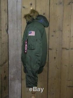 Alpha Industries MA-1 Dark Green Polar Jacket Style 188141 REDUCED