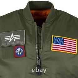 Alpha Industries MA-1 Flex Flight Jacket/Bomber MA1 MJM46600C1