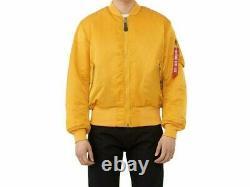 Alpha Industries MA-1 Flight Jacket/Bomber MJM21000C1 Golden Yellow Size M-2XL