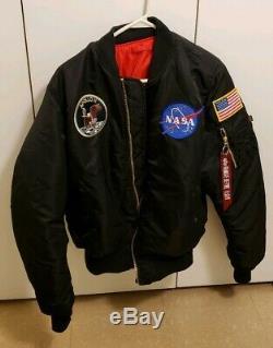 Alpha Industries MA-1 NASA Apollo Flight Bomber Jacket Men's Medium