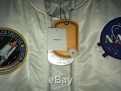 Alpha Industries MA-1 NASA Bomber Jacket Size Medium FREE SHIPPING