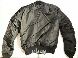 Alpha Industries MA-1 Slim Fit Flight Jacket Mens SZ Reversible Tonal Black Camo