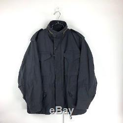 Alpha Industries M-65 Defender Field Jacket Coat Size Medium Black USA Made