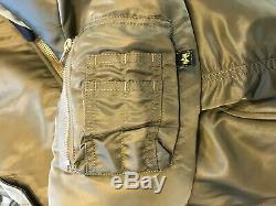 Alpha Industries Ma1 Jacket Us Version In Vintage Olive Size Medium