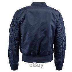 Alpha Industries Ma-1 Slim Fit Flight Jacket Replica Blue