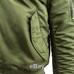 Alpha Industries Ma-1 Slim Fit Flight Jacket Sage Green