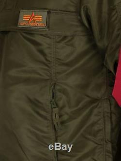 Alpha Industries Men's HPO Anorak Jacket, Green