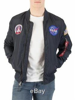 Alpha Industries Men's MA-1 TT Nasa Reversible Jacket, Blue