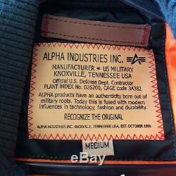 Alpha Industries Mens Uk M Petrol Green Ma1 MID Bomber Jacket Coat Rrp £149.99