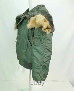Alpha Industries Military AIR CREW N-2B Flight Parka Jacket Bomber Fur Hood M