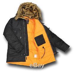Alpha Industries N3b Cold Weather Parka Jacket, Women's Slim Fit Version 72419